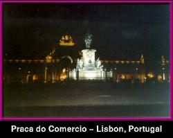 Praca do Comercio at night,  Lisbon PORTUGAL