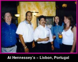 The gang at Hennessey's - Lisbon,  PORTUGAL